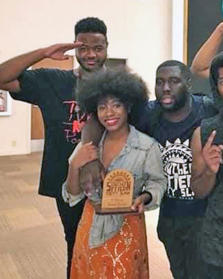 Poet Mecca Verdell and friends at the Southern Fried poetry slam 2018